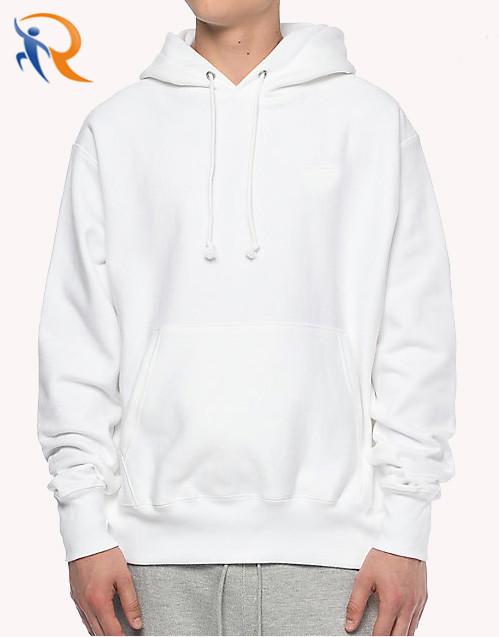 Wholesale High Quality White Hoodie Custom Cotton Mens Hoodies