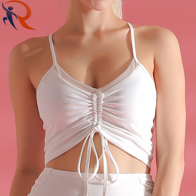 Fashion Sweat Absorbing Sport Vest Yoga Suit Tennis Woman Fitness Yoga Wear T-Shirt Sportswear