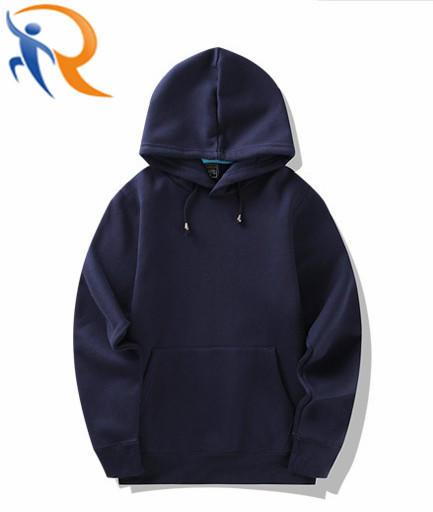 Custom Wholesale Blank Black Pullover Men Hoodies