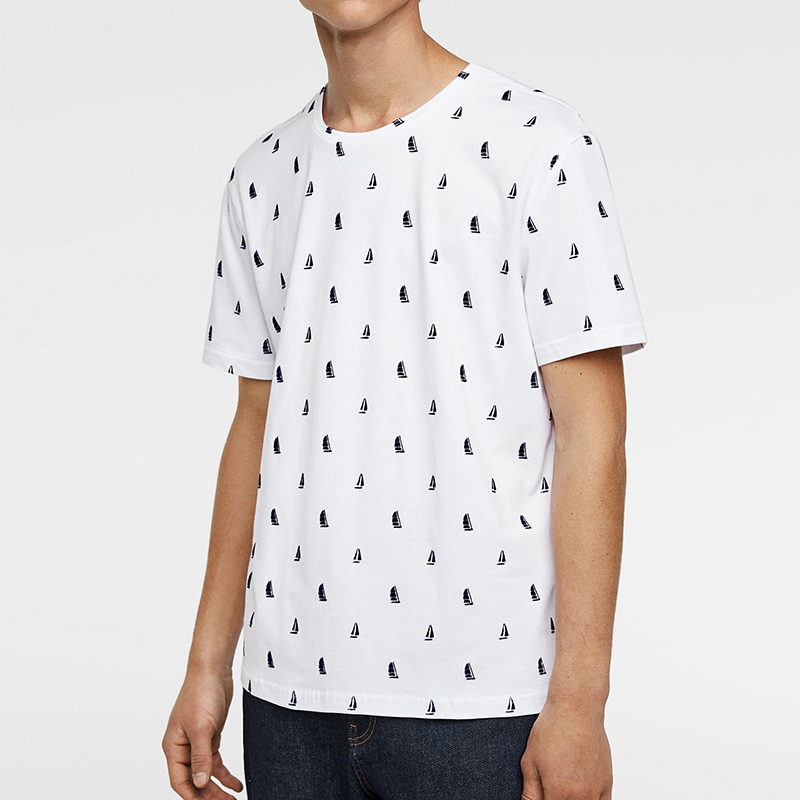 product-High Quality 100 Cotton Short Sleeve Tee Shirt Round Neck All Over Printing Partysu Men T-Sh