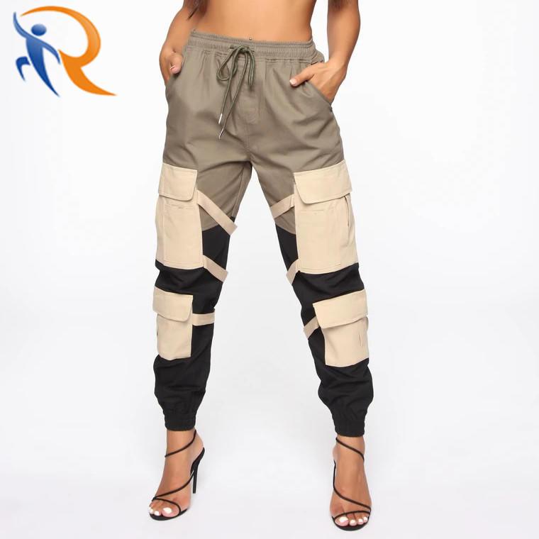 OEM Design Wholesale Trending New Arrival Design Women Cargo Jogger with Pockets Custom for Women