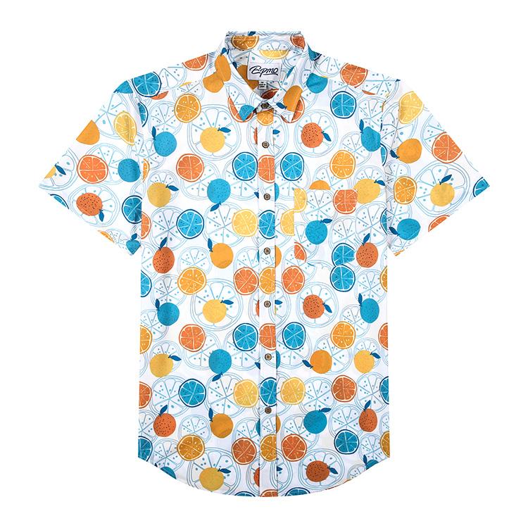product-Ruiteng-Digital Print Hawaiian Man Shirt Custom Printed Casual Button Down Pineapple Shirts