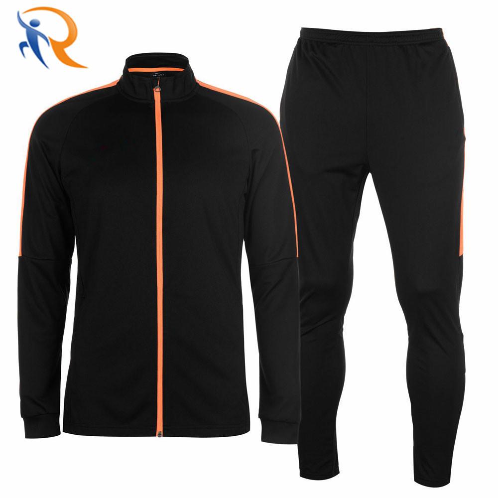 Wholesale Black Skinny Fit Men's Fashion Track Suit