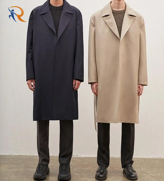 OEM ODM Custom Luxury Trench Coats Worsted Wool Overcoat Men Warm Winter Long Men Cashmere Coat