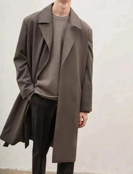 product-Ruiteng-OEM ODM Custom Luxury Trench Coats Worsted Wool Overcoat Men Warm Winter Long Men Ca