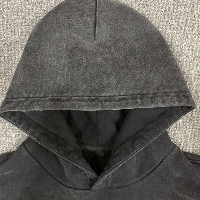 product-Ruiteng-Wholesale Custom Logo Mens Hoodie Pullovers 100 Cotton Plain Hoodie Men Vintage Styl