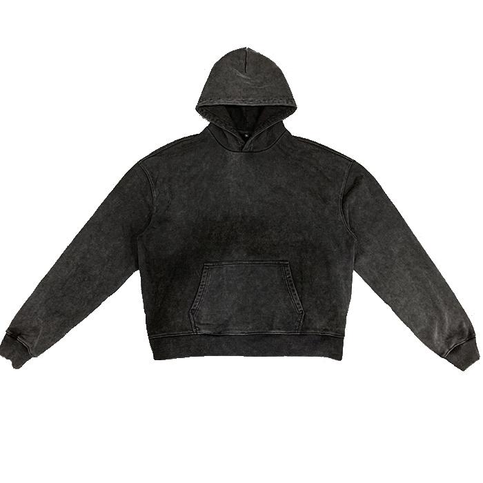 product-Wholesale Custom Logo Mens Hoodie Pullovers 100 Cotton Plain Hoodie Men Vintage Style Heavyw