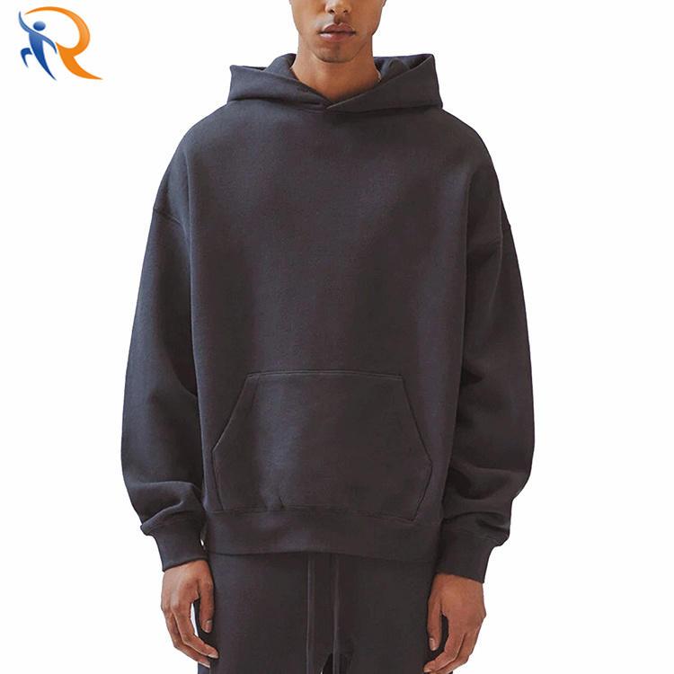 Wholesale Street Fashion Men Oversized Custom Print Pullover Heavy Hoodie