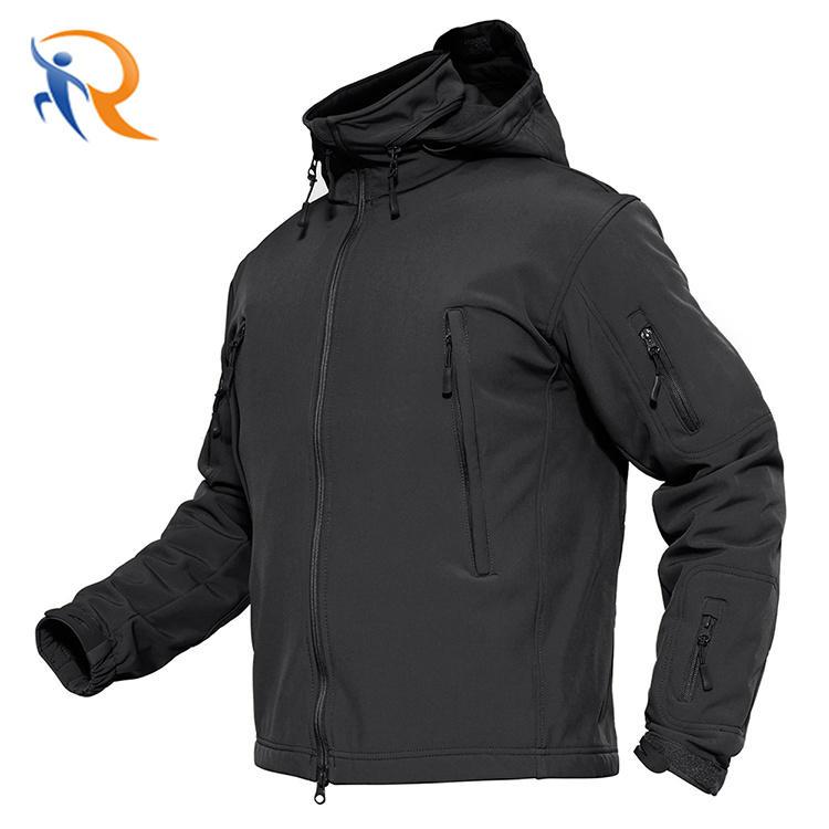 Hot Sales Custom Men Sports Softshell Jackets Grey Outdoor Waterproof Soft Shell Jacket with Hood