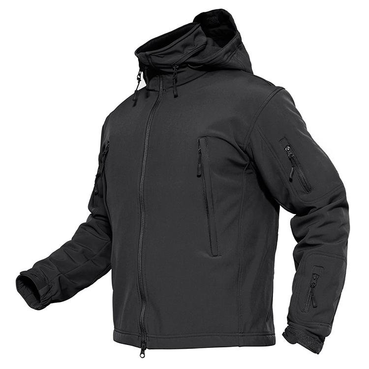 product-Ruiteng-Hot Sales Custom Men Sports Softshell Jackets Grey Outdoor Waterproof Soft Shell Jac