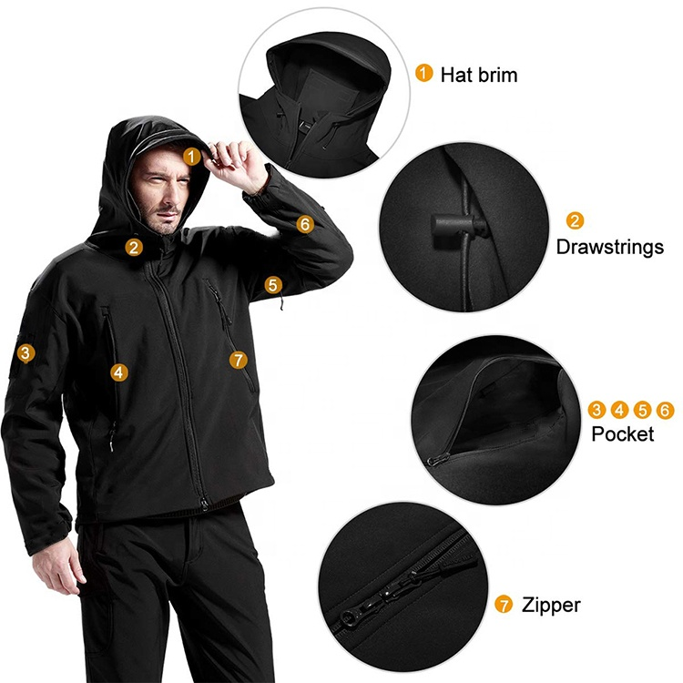 product-Hot Sales Custom Men Sports Softshell Jackets Grey Outdoor Waterproof Soft Shell Jacket with