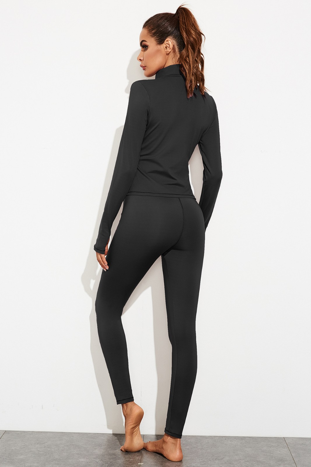 product-Ruiteng-Gym Fitness Clothing Women Tight Long Sleeves Women Suit Sport Wear yoga with Zipper