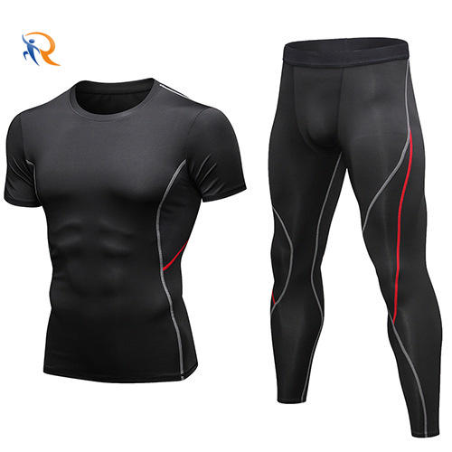 OEM ODM service Quick drying Compression Fitness Sport Suit For Men Gym