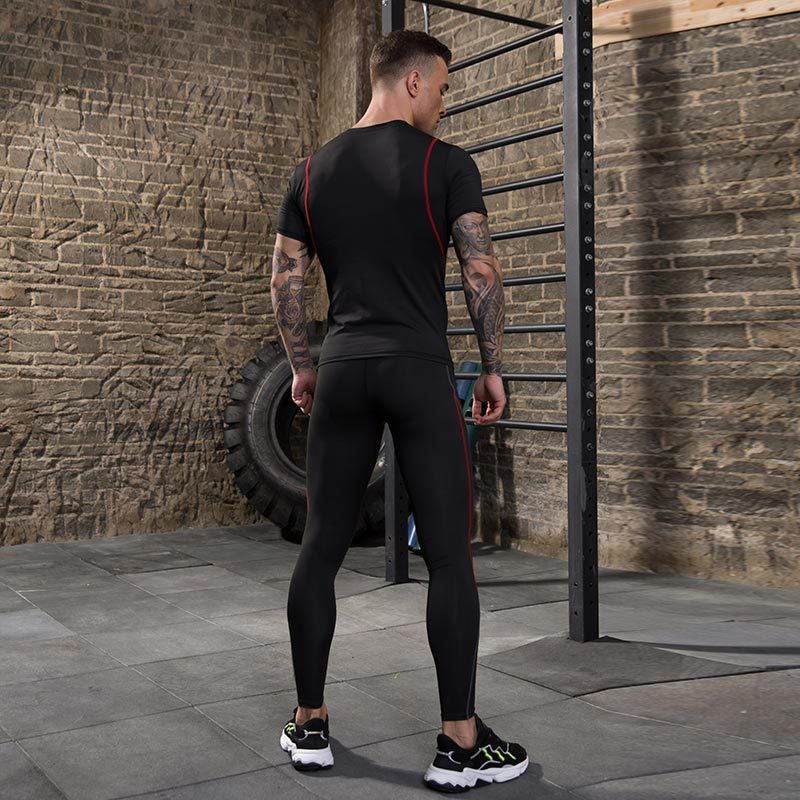product-Ruiteng-OEM ODM service Quick drying Compression Fitness Sport Suit For Men Gym-img