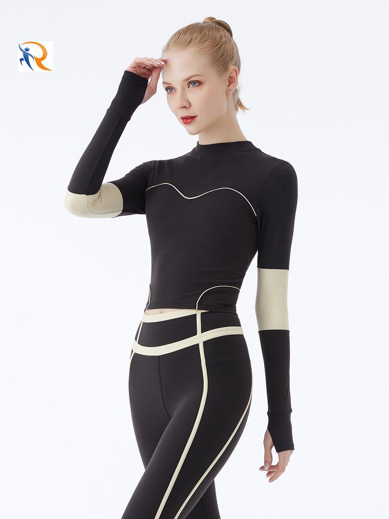 Long Sleeves Women Figure Hugging Yoga Suit Fitness Female Gym Sports Wear