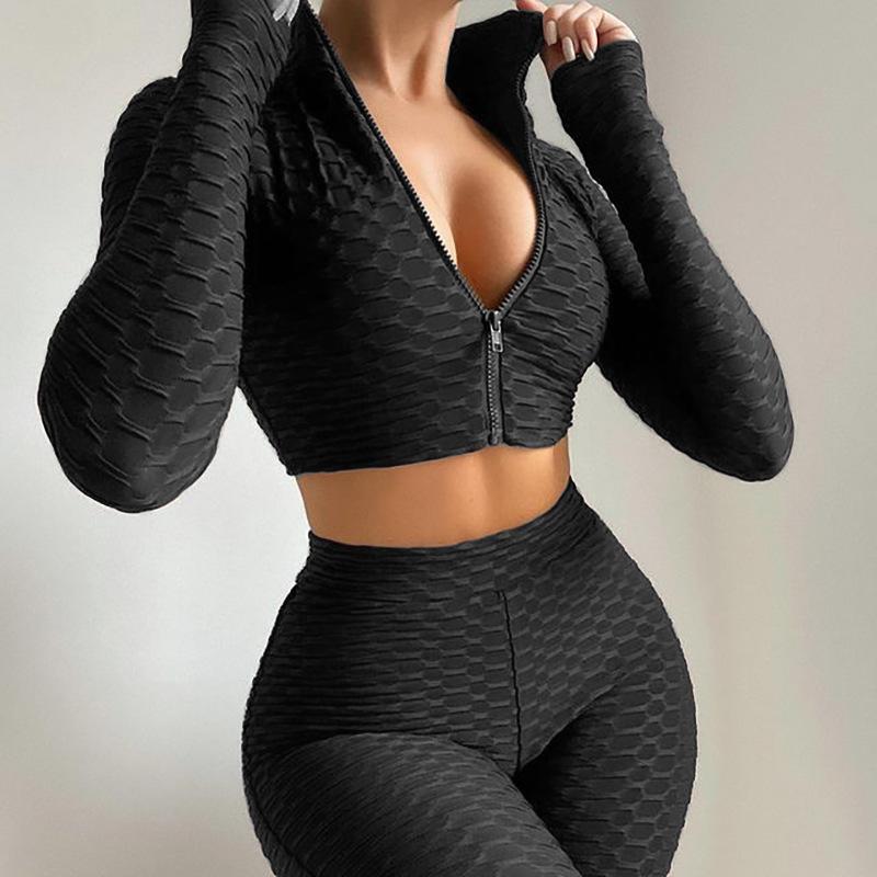 product-Ruiteng-Women Sportswear Active Fitness Suit Workout Sport Wear Gym Clothing Short Long Slee