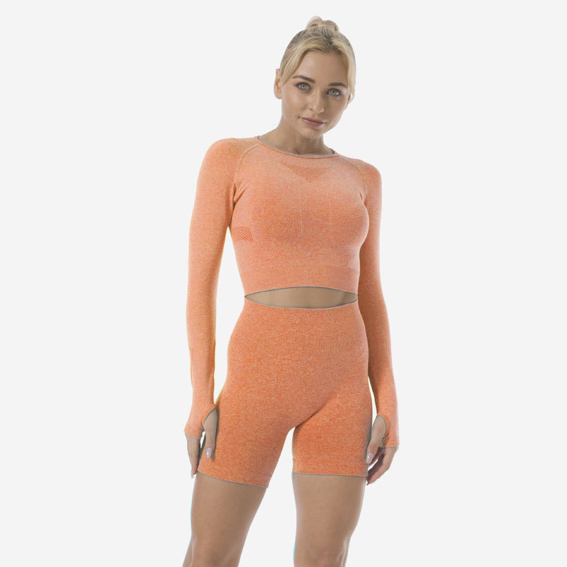 product-Ruiteng-Yoga Wear Wholesale Women Two Pieces Gym Yoga Wear Clothing Shorts Sports-img