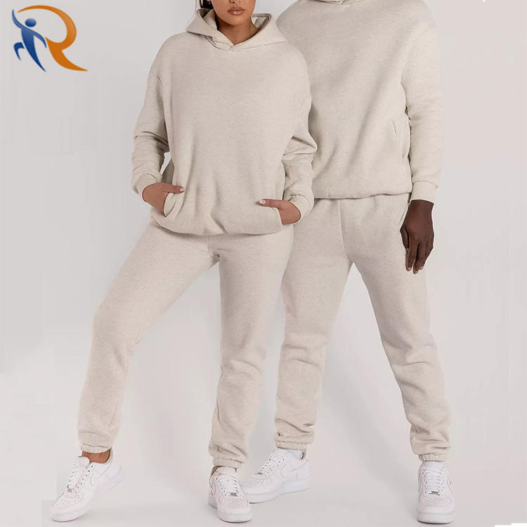 Custom Sport Wear Jogging Printing Casual Unisex Sweatsuit 2 Piece Set Track Suits Tracksuits Pink Black White Jogging Suit
