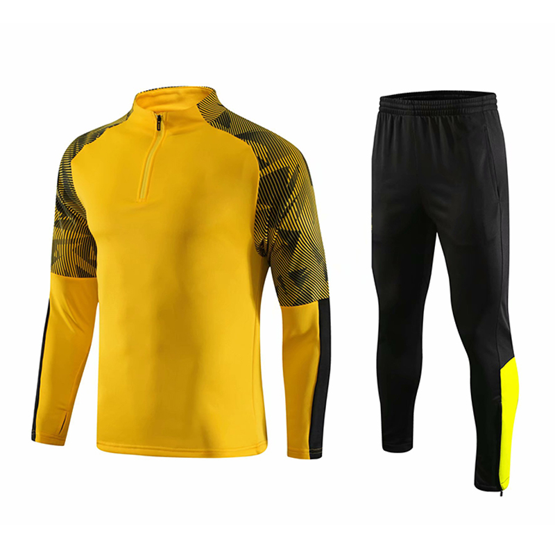 product-New Design Mens Track Suits 2021 Sport Football Tracksuit Black Soccer Tracksuit-Ruiteng-img