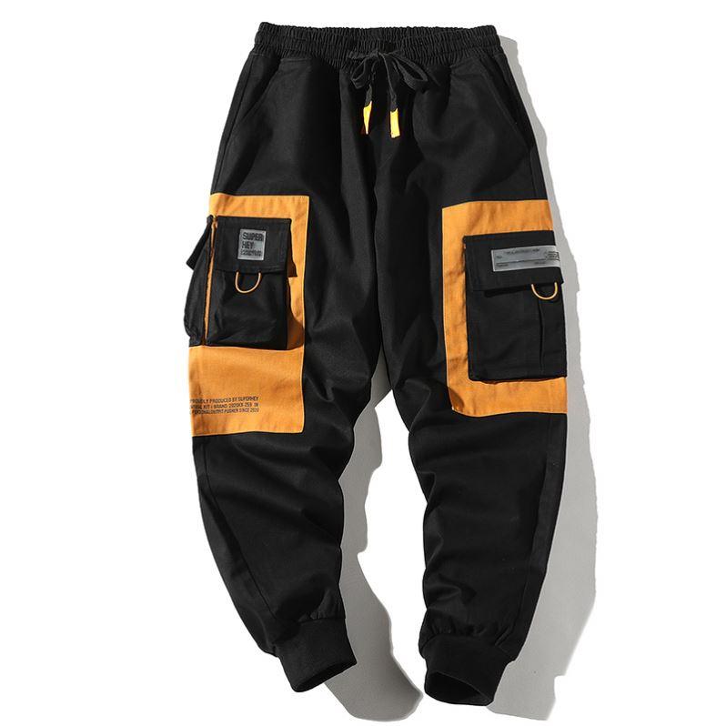 product-Wholesale washed streetwear Sweatpants New fashion Cargo Pants Men Joggers-Ruiteng-img