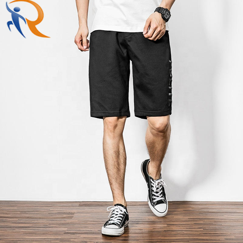 Wholesale Embroidery Custom sweat shorts Casual cotton shorts Mens Fashion Joggers Cotton Embroidered Loose Sweat Shorts Man