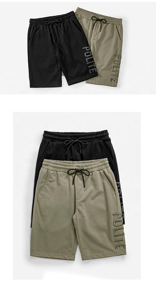 product-Wholesale Embroidery Custom sweat shorts Casual cotton shorts Mens Fashion Joggers Cotton Em