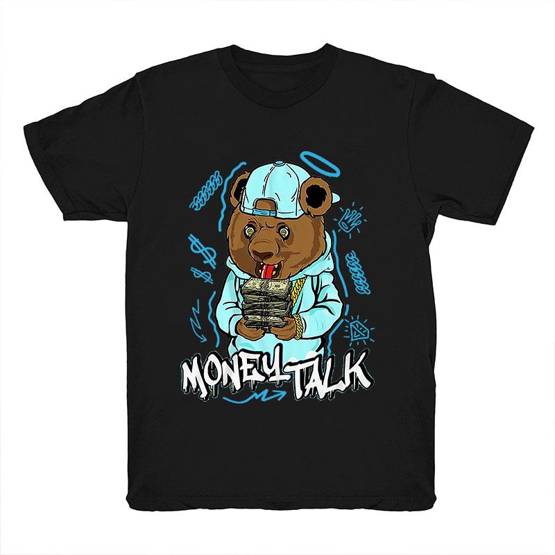 product-Wholesale Money Teddy Bear Streetwear Men Tshirt Summer Custom O Neck Tshirt Men 100 Cotton