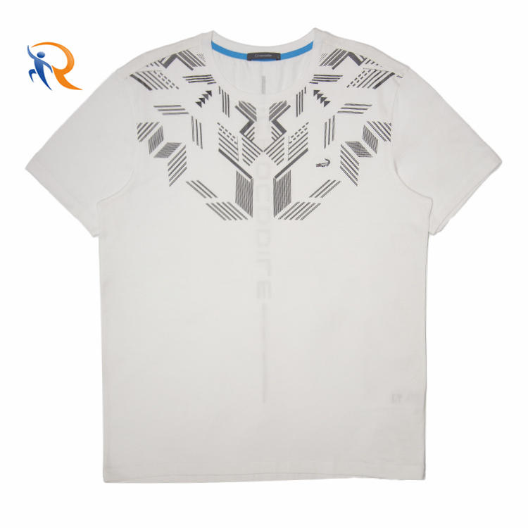 Wholesale Designer T shirt Printing Double Mercerized Cotton Tshirt