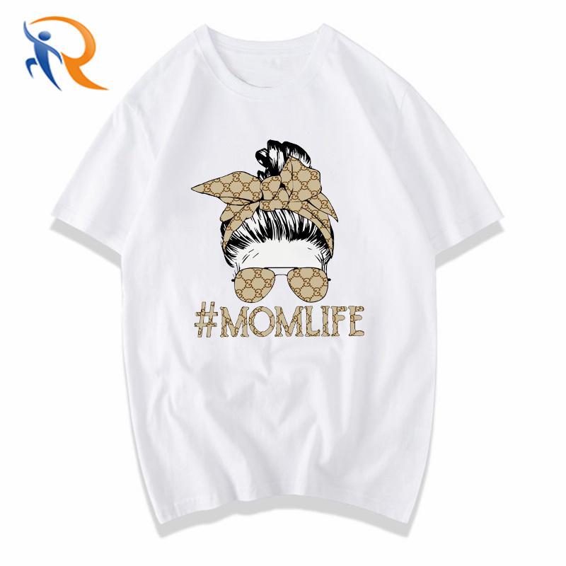 Hot Sale Mom Life Fashion Print High Quality T Shirt for Women Cute Streetwear G Home Women Shirts