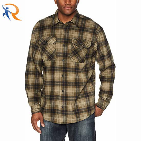 Wholesale Plaid Spring/Autumn OEM Service Flannel Mens Shirts