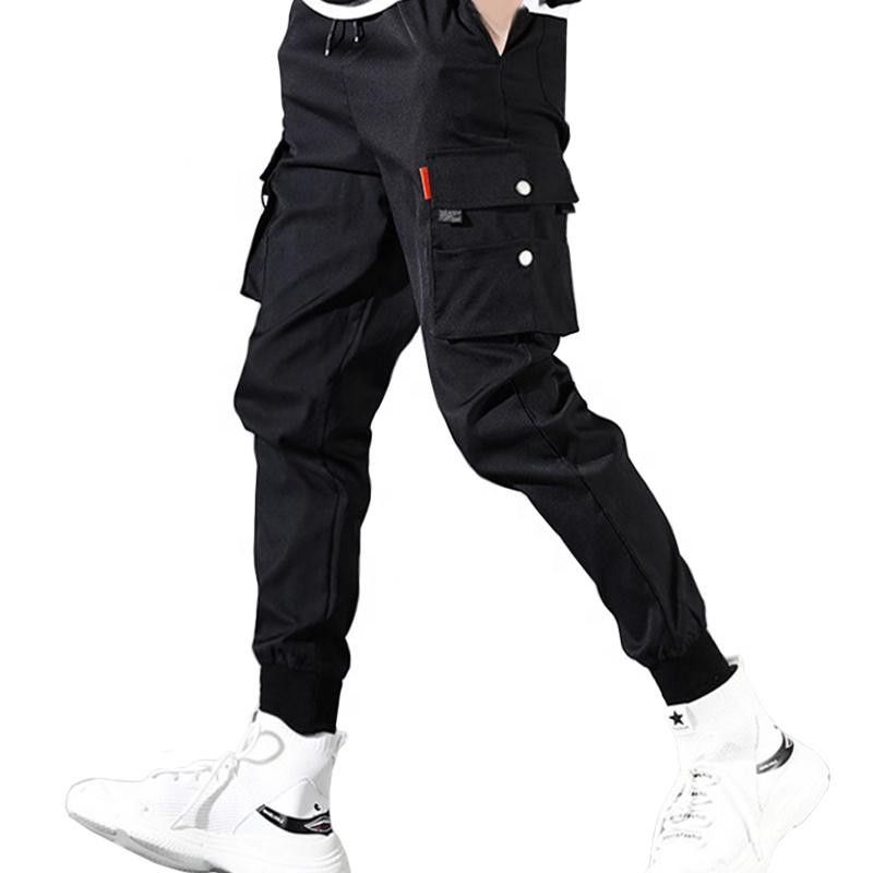 product-Ruiteng-Spring Cargo Pants Multiple Pockets Trousers Men Hip Hop Harem Sports Trouser Jogger