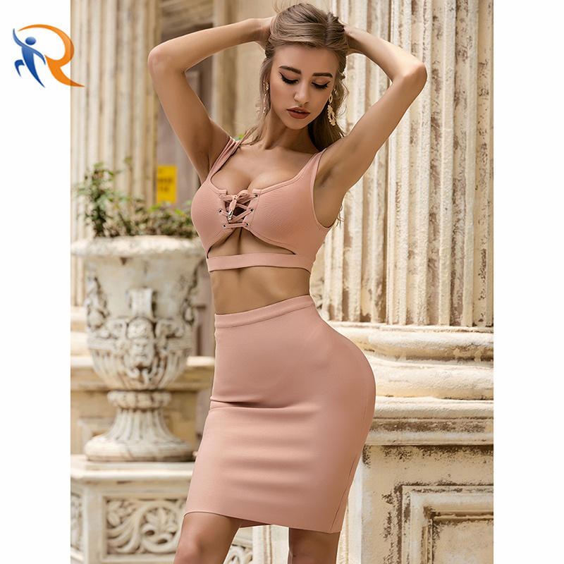 Sexy Two Piece Set Club Party Wear Women Fashion 2021 Spring Dress Plus Size