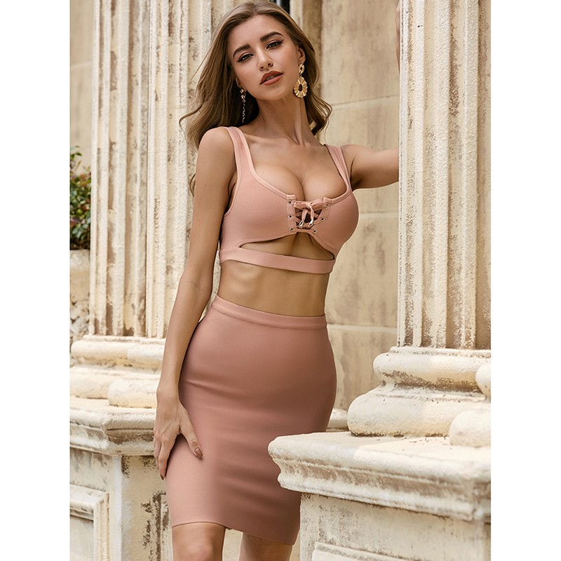 product-Sexy Two Piece Set Club Party Wear Women Fashion 2021 Spring Dress Plus Size-Ruiteng-img