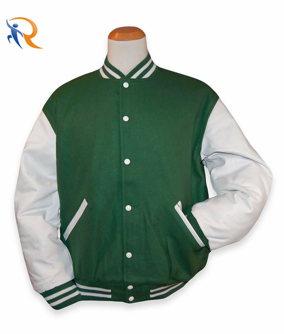 Wholesale Custom latest designs Long Sleeve Baseball Varsity Jacket Men Plain Blank Varsity Letterman Jackets