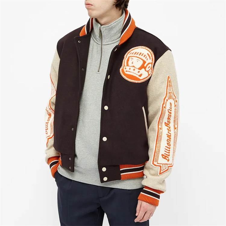 product-Ruiteng-Custom Double Color Patchwork Patch Embroidered College Bomber Flight Varsity Jacket