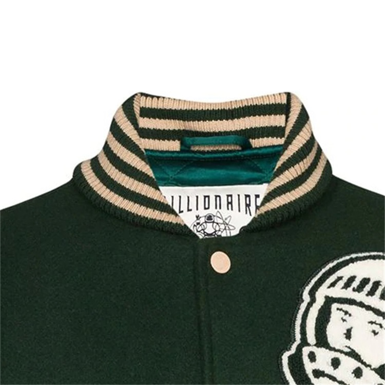 product-Custom Double Color Patchwork Patch Embroidered College Bomber Flight Varsity Jacket for Men
