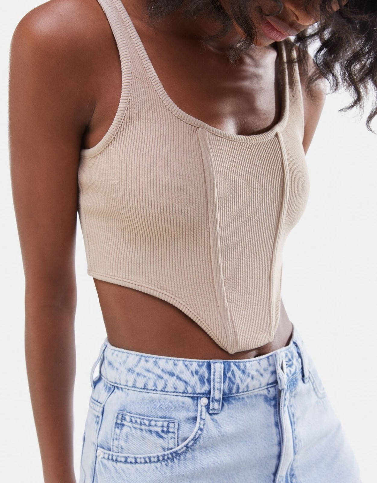 product-Ruiteng-2021 Summer Custom Breathable Women Knit Ribbed Vest Y2k Sexy Slim Fitness Basic Sle