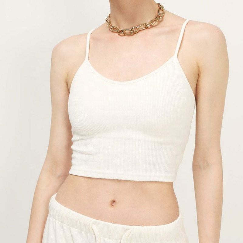 product-2021 Fashion Casual Cheap Hot Girl Crop Top Solid Color Cross Strappy Women Slim Shirt Tight
