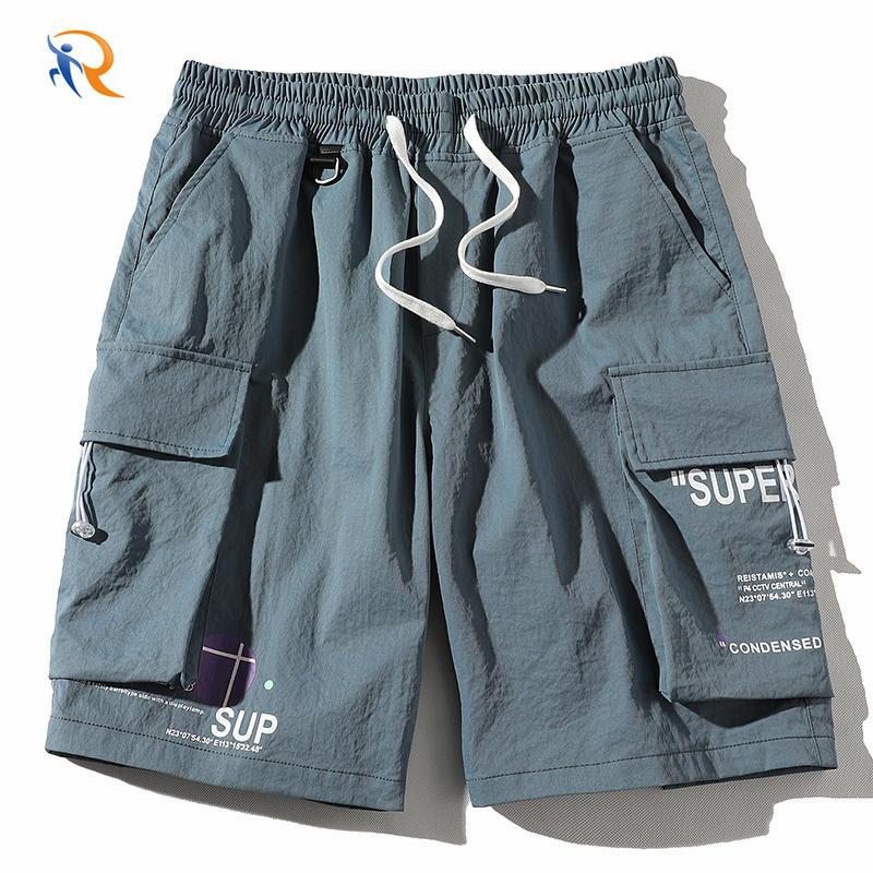 New Model Big Pocket Elastic Waist Half Short Colorful Shorts Cargo Shorts