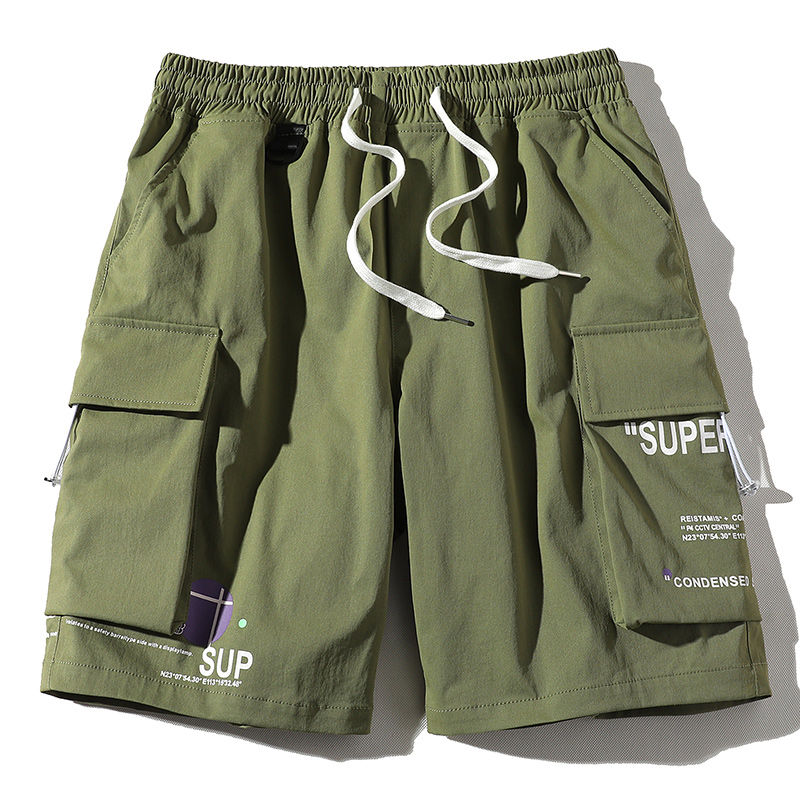 product-New Model Big Pocket Elastic Waist Half Short Colorful Shorts Cargo Shorts-Ruiteng-img