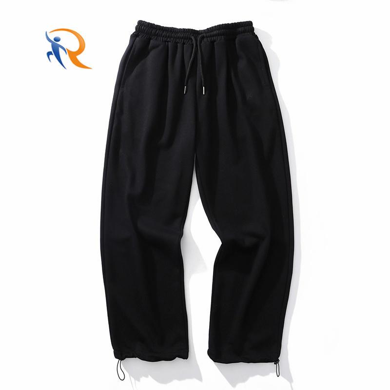 Wholesale Cotton Pants Men Jogger Sweatpants Blank Black Custom Design Pants