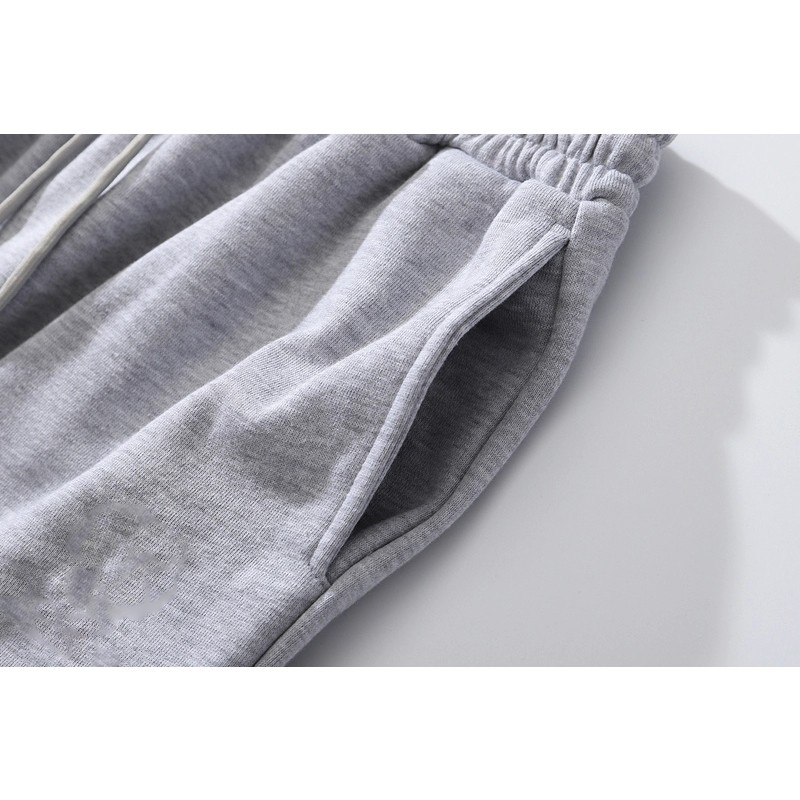product-Wholesale Cotton Pants Men Jogger Sweatpants Blank Black Custom Design Pants-Ruiteng-img