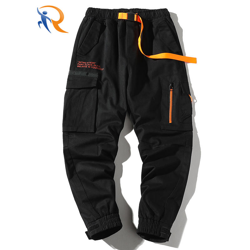 2021 New Fashion Sport Jogger Pants Casual Sports Trousers Sweatpants for Men Joggers with Zipper Pockets