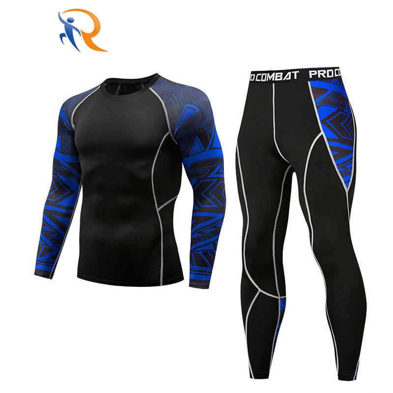 Functional Sportswear Long Black High Quality Mens Sports Compression Tight