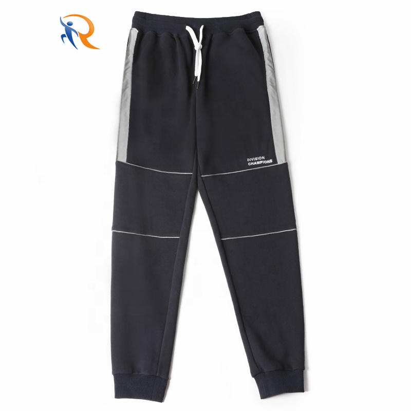French terry sweat pants mens loose OEM Men′s Sport Cotton Custom Casual Embroidered Joggers Printed Logo Men Joggers