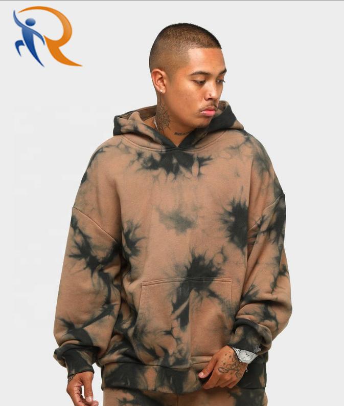 Men Hoodies Plain Tie Dye Hoodie Custom Printed Logo Printing Hoodies Oversized Custom Streetwear Cotton Hoodies