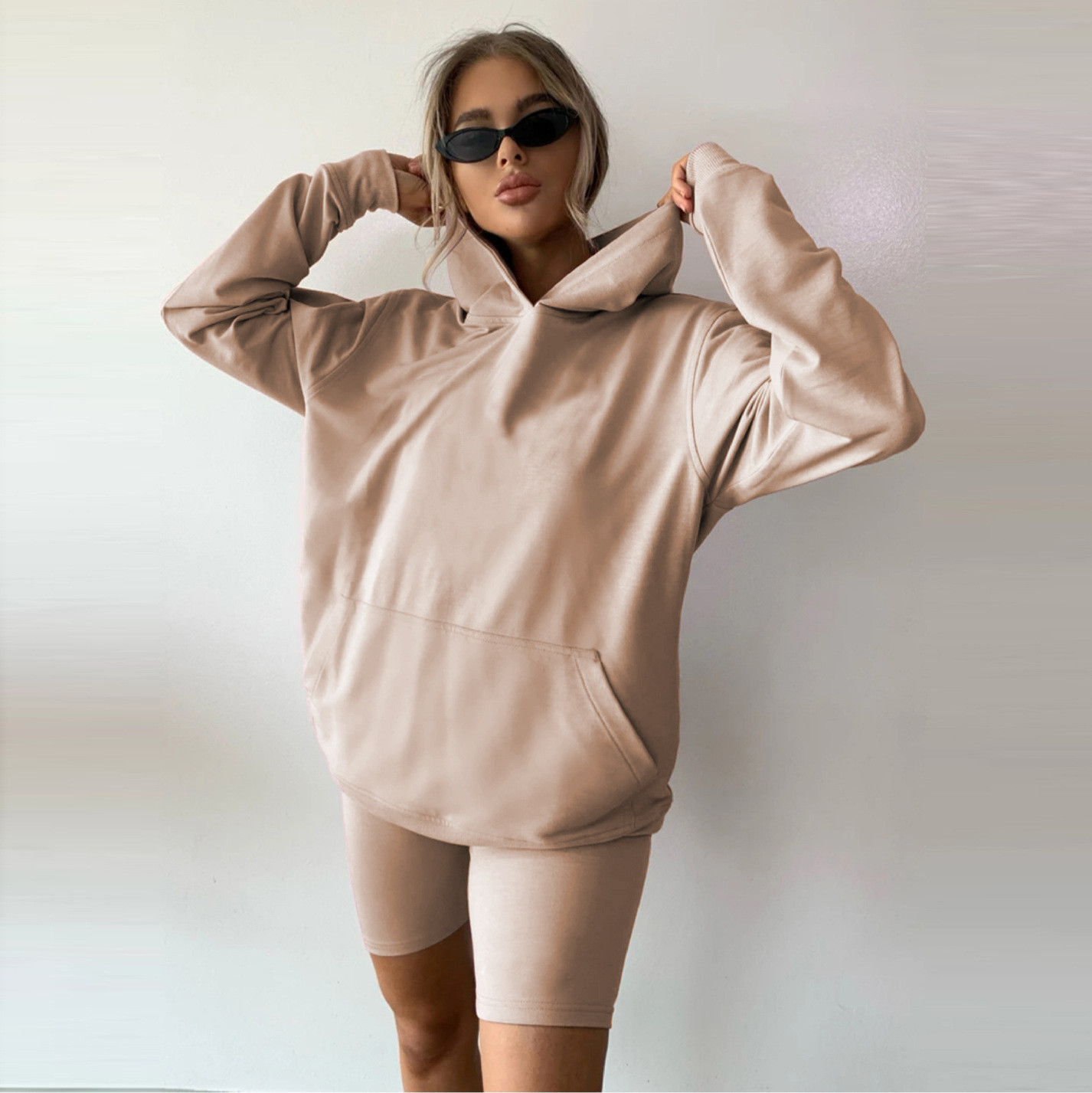 product-Comfortable Women Sport Set Customized Wholesale Solid Color Flexible Two Piece Yoga Set Wom