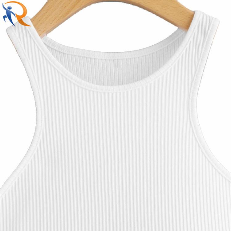 Custom Women Sport Wear Gym Fitness Rib Knit Tanks Tops Crop Tops