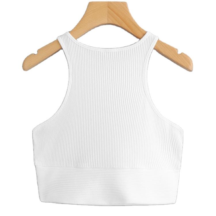 product-Custom Women Sport Wear Gym Fitness Rib Knit Tanks Tops Crop Tops-Ruiteng-img