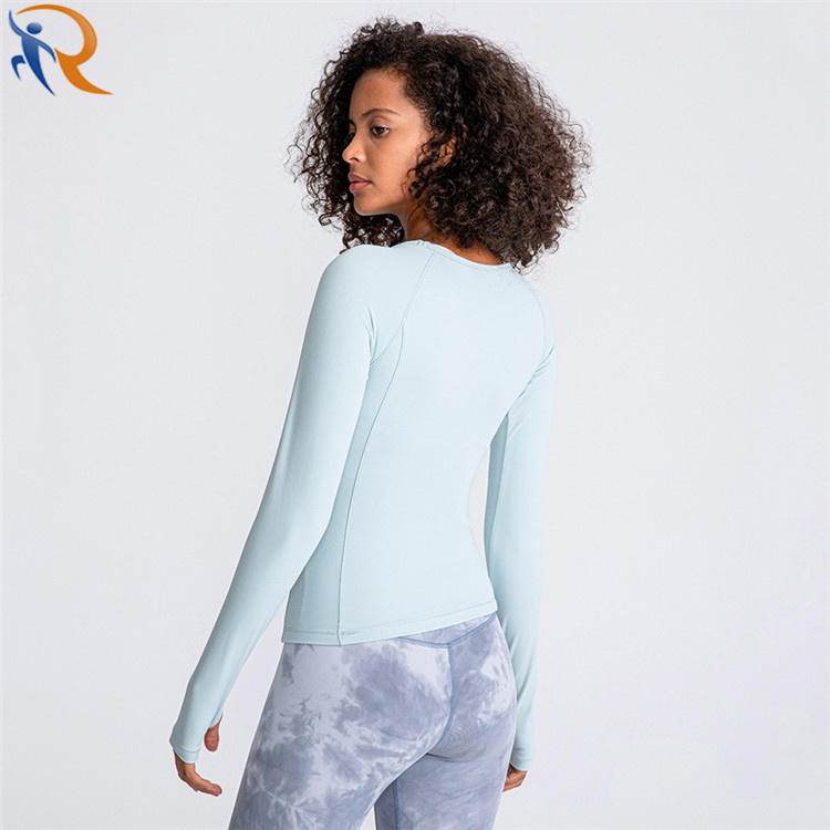 Fitness Gym Shirts Bright Colour Sports Top Women Long Sleeve Workout Top